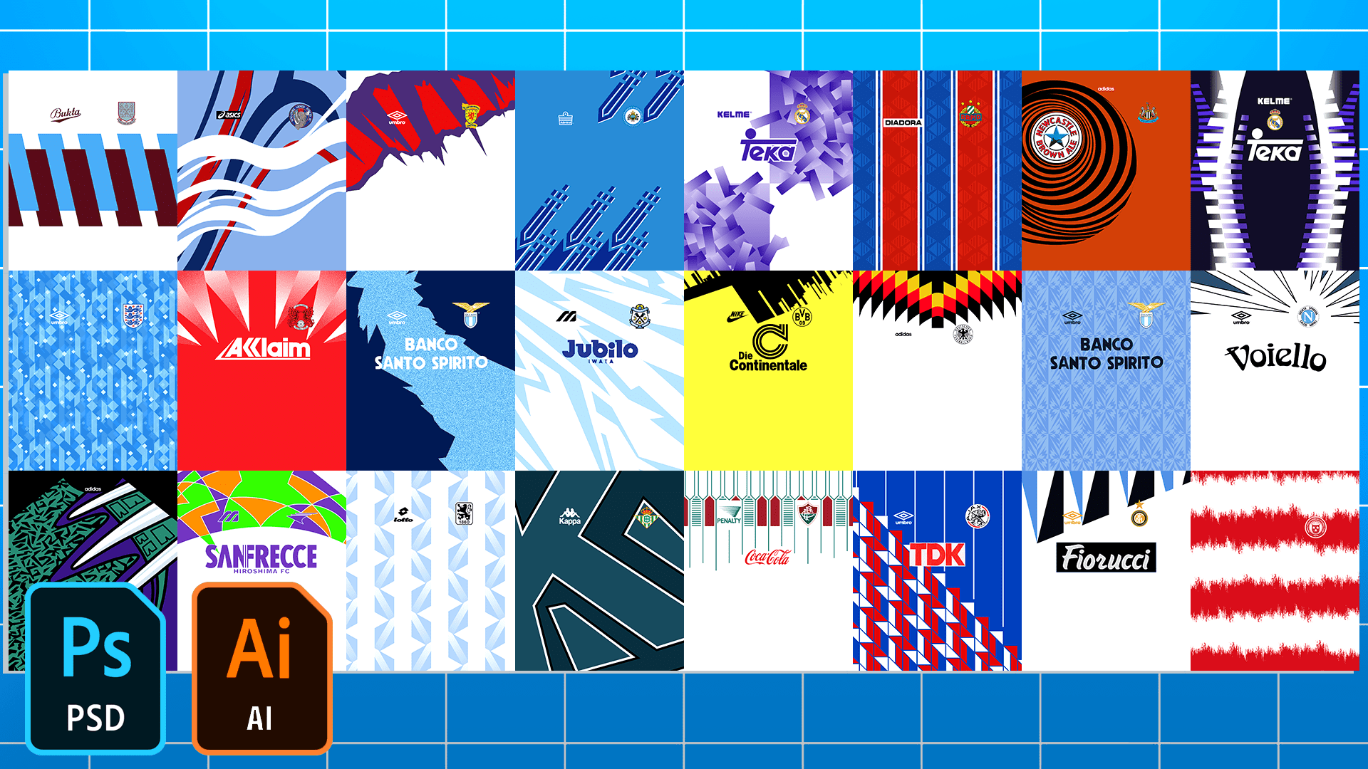 Football/Soccer Classic Jersey Patterns Pack – Part 2