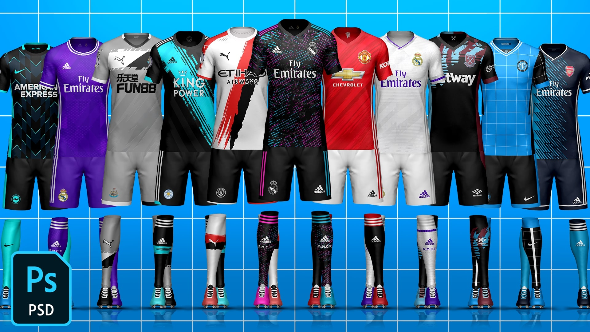 Full Kit Builder Soccer/Football Template Mock-Up