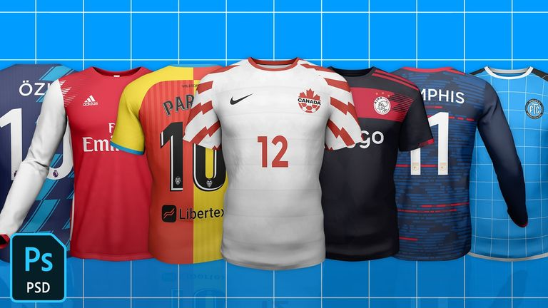 Normal Top Football/Soccer Jersey Template Mock-Up