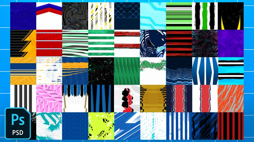 Qehzy's Football/Soccer Jersey Patterns Pack 3 (2021)
