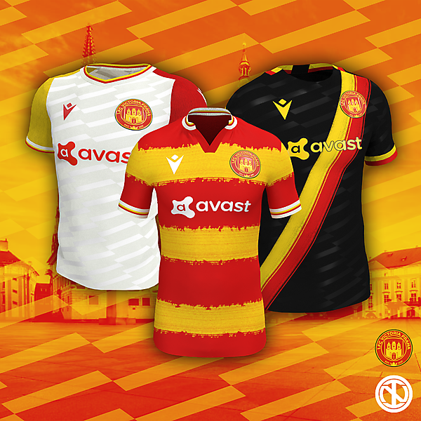 1.FC Victoria Praha | Home, Away and Third Kits