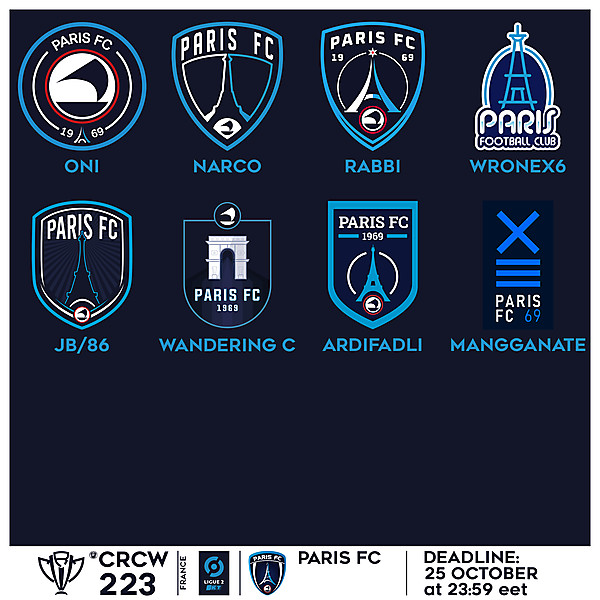 CRCW 223 VOTING - PARIS FC
