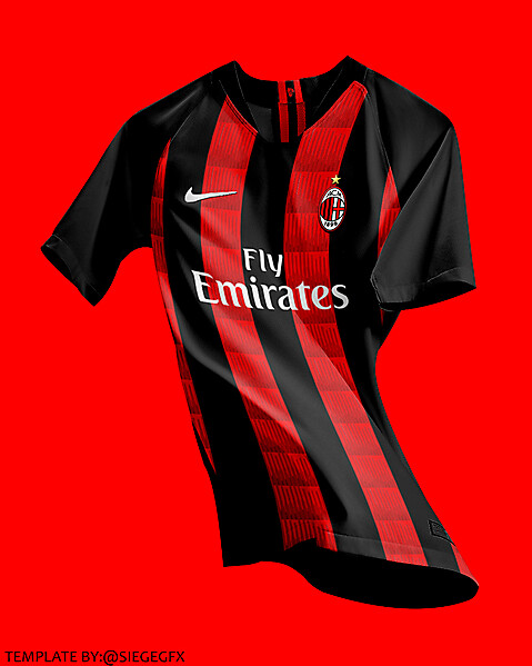 AC Milan home jersey concept