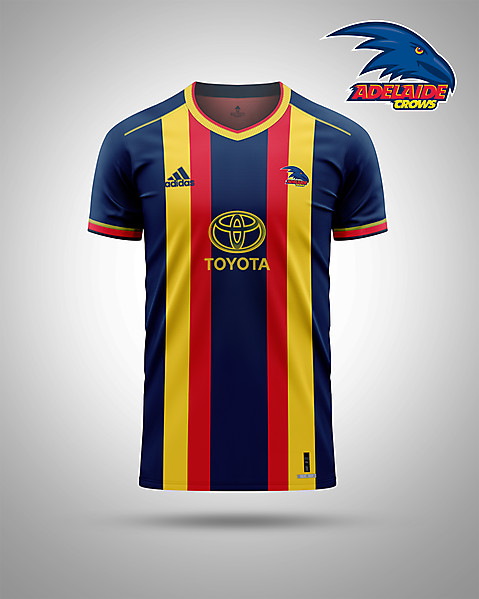 Adelaide Crows AFL as a soccer kit
