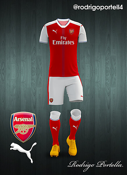 Arsenal 2016-17 home kit