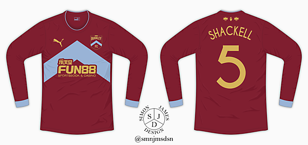 Burnley FC Home Shirt - Rebrand