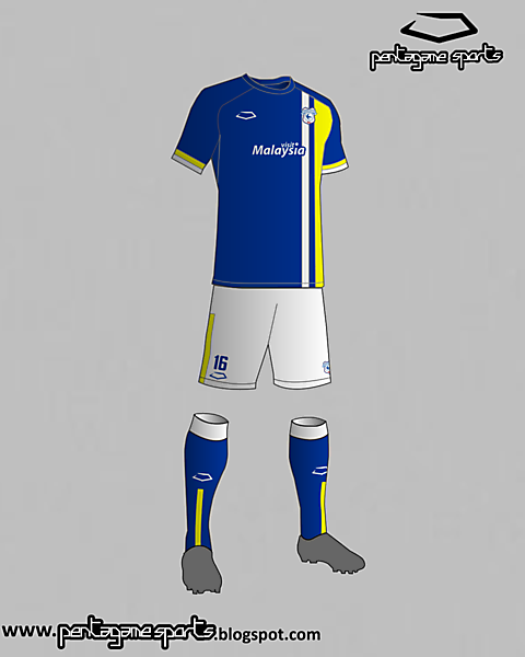 Cardiff City (Wales) Home Kit 2016