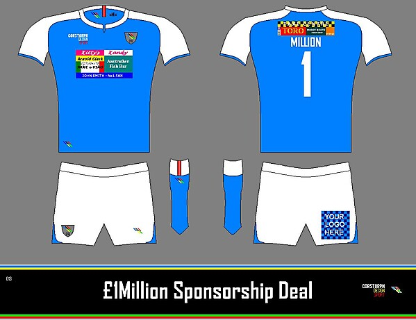 £1,000,000 Sponsorship Deal Concept Example