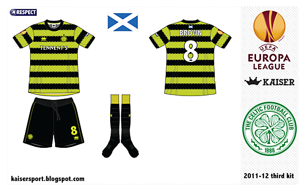 Celtic FC 3rd kit by @kunkuntoto