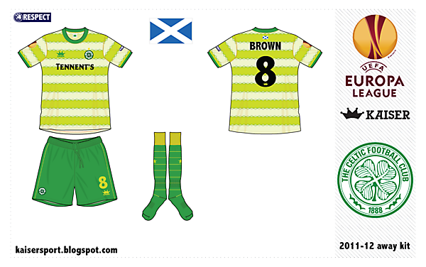 Celtic FC away kit by @kunkuntoto