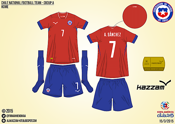 Chile Home - Group A, 2015 Copa América