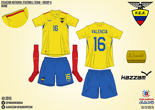 Ecuador Home - Group A, 2015 Copa América