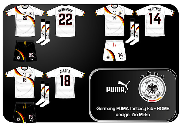 Germany PUMA fantasy kit - home white