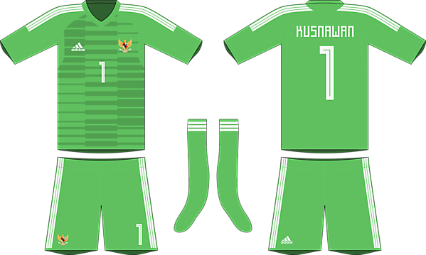 Indonesia x Adidas 2019-20 goalkeeper kit #1