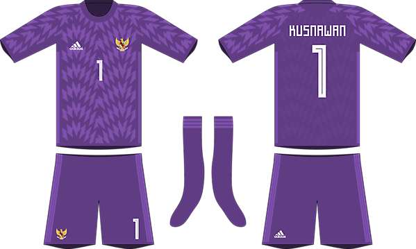 Indonesia x Adidas 2019-20 goalkeeper kit #2