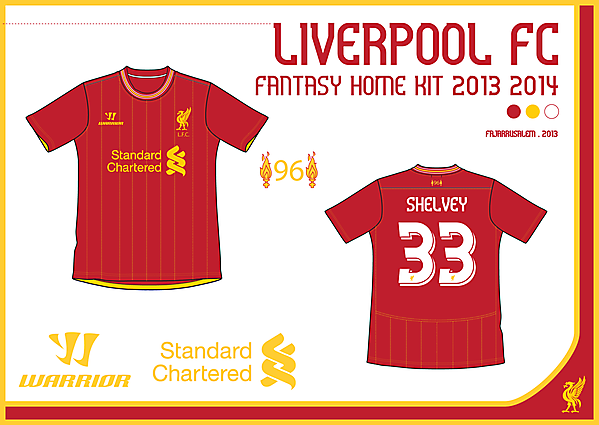 LIVERPOOL FC FANTASY HOME KIT 2013/14