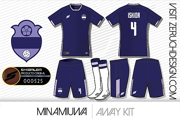 Minamiuwa Away kit