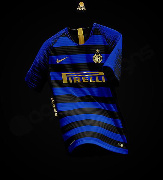 NIKE INTER FC HOME KIT CONCEPT (HORIZONTAL STRIPES)
