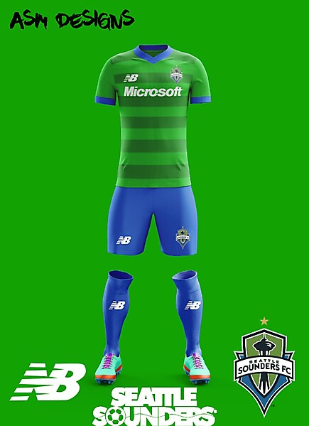 Seattle Sounders New Balance Home kit 2018