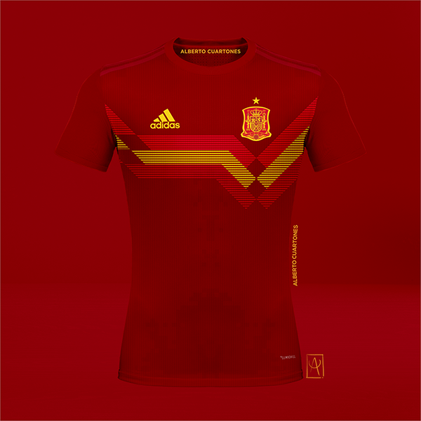 Spain adidas 70th anniversary Concept Red Jersey