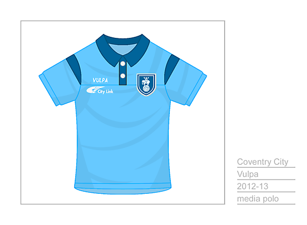 Coventry City Media Polo