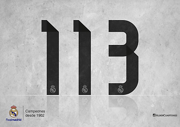 Real Madrid 113th anniversary design