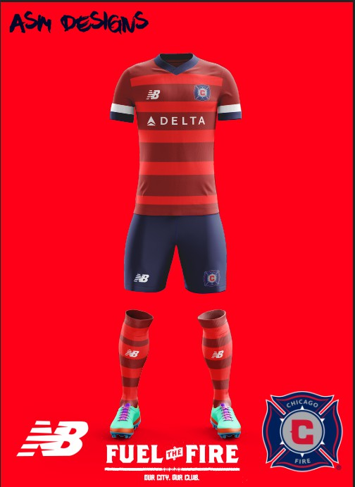 huge discount 82a49 f934c Chicago Fire New Balance 2018 Home kit