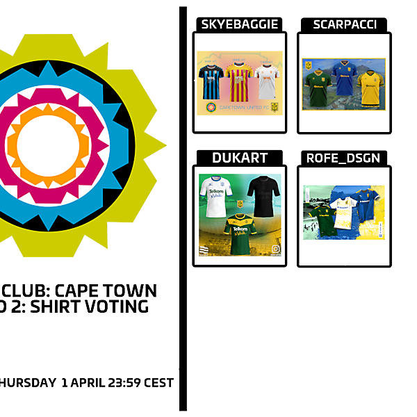1 CITY 1 CLUB - CAPE TOWN - PART II - KIT VOTING