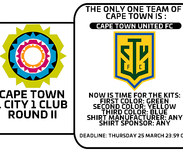 1 CITY 1 CLUB - CAPE TOWN - PART II - KITS