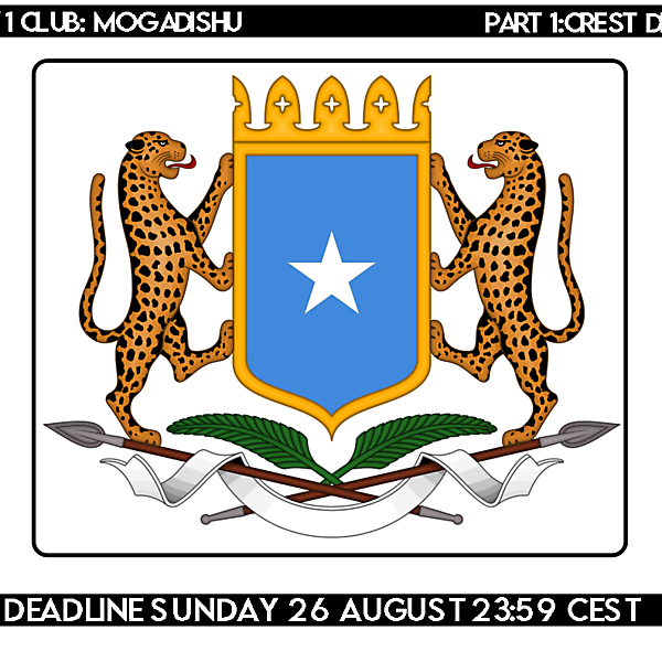 1 CITY 1 CLUB |MOGADISHU | CREST DESIGN