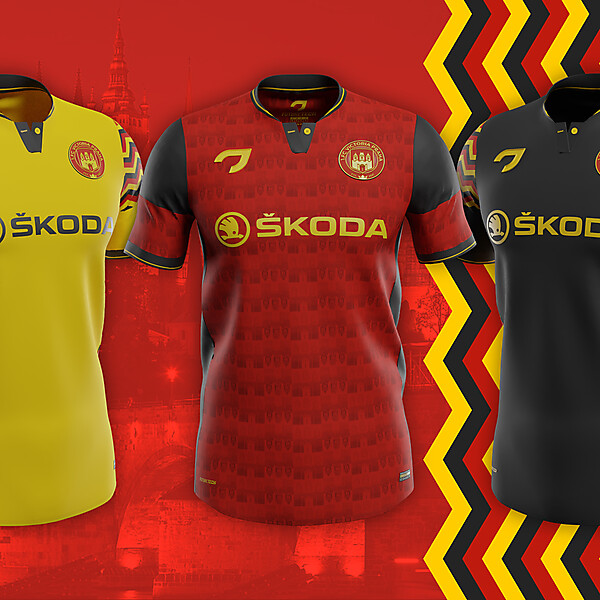 1. FC Victoria Praha | Home, away and third shirts