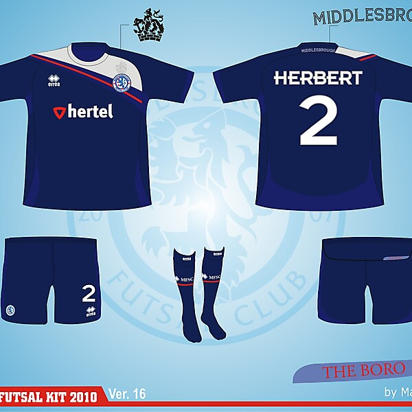 Middlesbrough Futsal Club Kit - Version .16