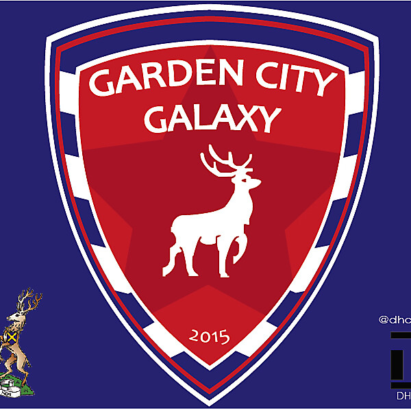 Garden City Galaxy FC Crest Logo