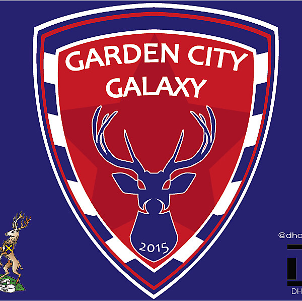 Garden City Galaxy FC Crest Logo 2