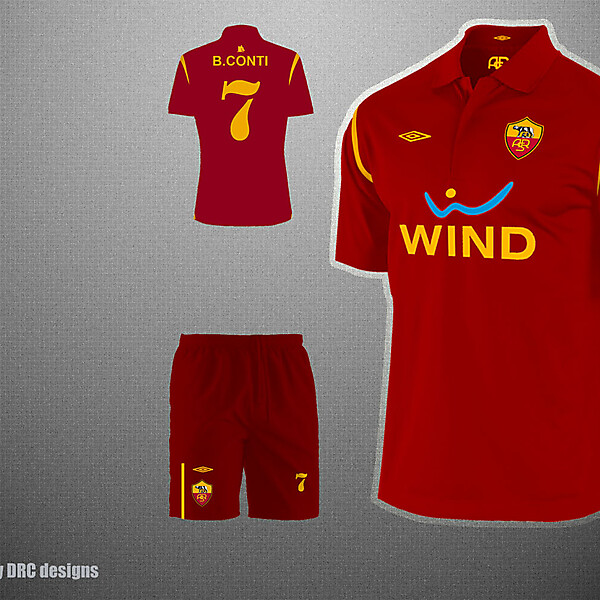 AS Roma home kit.
