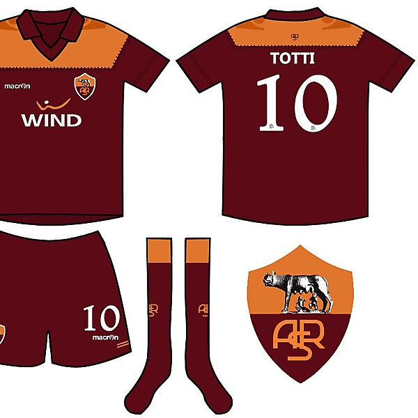 AS Roma Home Macron Kit