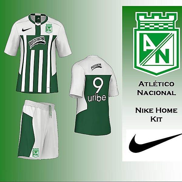 Atletico Nacional - Nike Home Kit