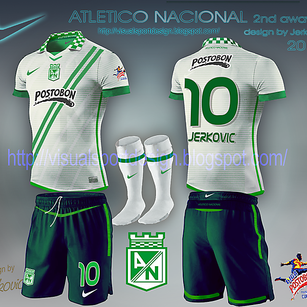atletico nacional away  white