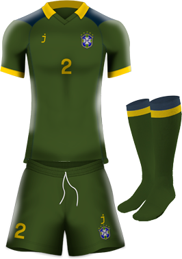 Brasil home kit by J-sports