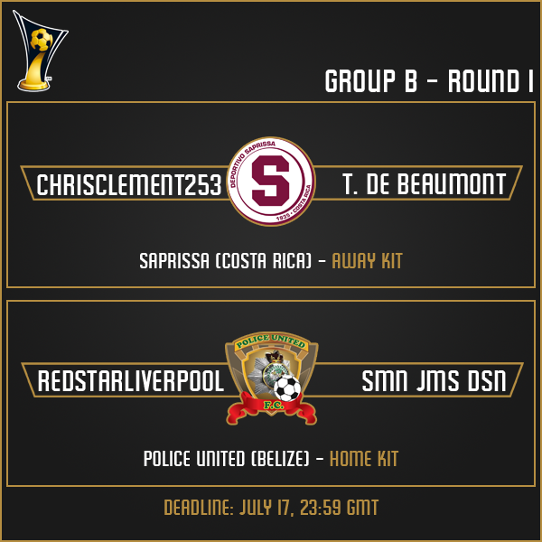 Group B - Round 1 Matches