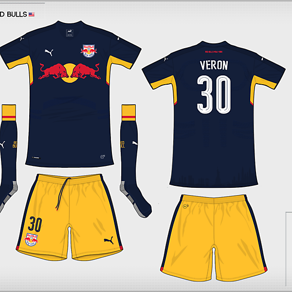 [Group C] New York Red Bulls | away kit