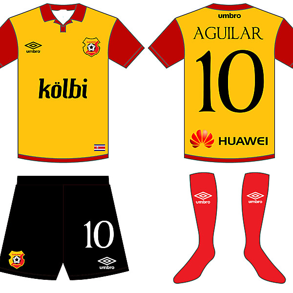 Herediano FC Home Kit by erwin_p12