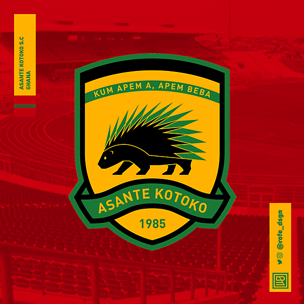 Asante Kotoko Football Club | Rebranding By @rofe_dsgn