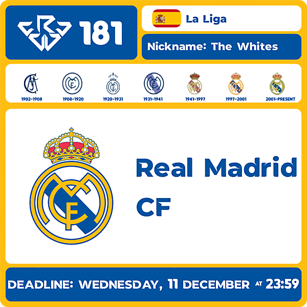 CRCW 181 - REAL MADRID CF