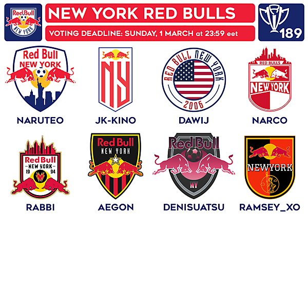 CRCW 189 VOTING - NEW YORK RED BULLS