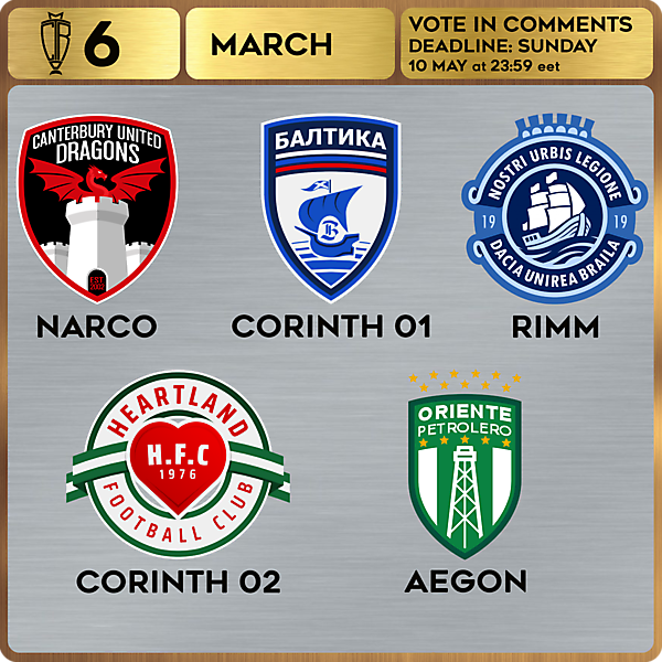CROTM 6 VOTING - MARCH