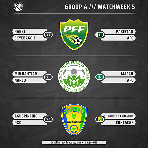Week 5 // Group A // Matches