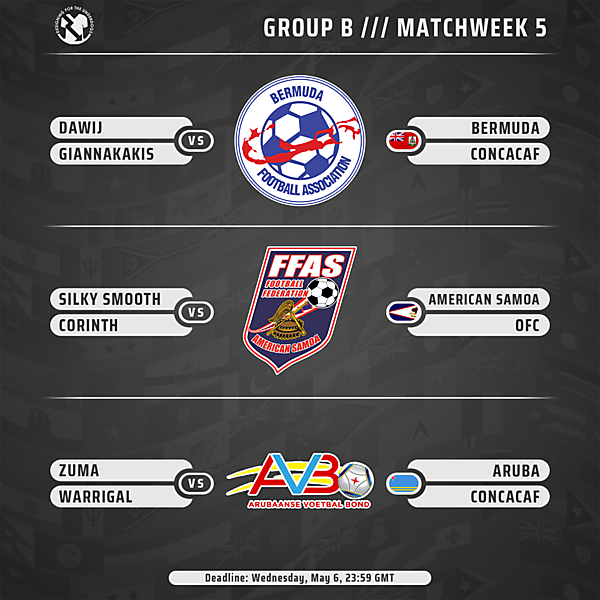 Week 5 // Group B // Matches