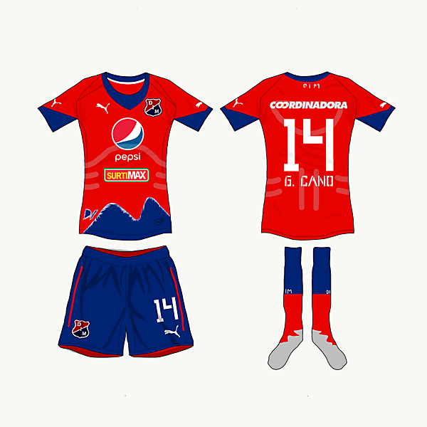 Deportivo Independiente Medellin Home Kit - {Matchday 5}