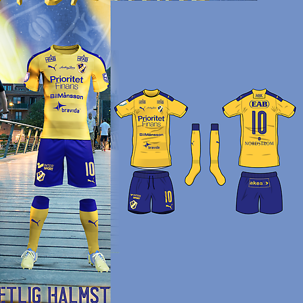 Halmstads BK away kit
